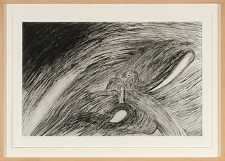 "LOUISE JOSEPHINE BOURGEOIS (Paris, 1911 – New York, 2010).  ""Storm at Saint Honoré"", 1994.  Etching on bearded paper. Example 79/100.  Editor: Odition"