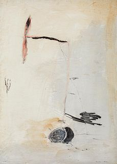"JOSEP MARIA RIERA I ARAGÓ (Barcelona, 1954). ""Plane"". Oil on panel. Signed in the lower right corner."