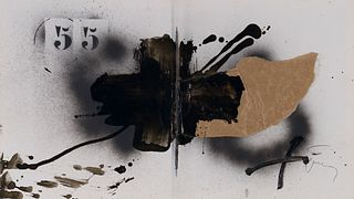 ANTONI TÀPIES PUIG (Barcelona, 1923-2012). No title. Mixed media on paper. Signed in the lower right corner. Attached certificate issued by the Tàpies