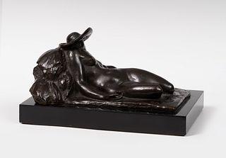 "PABLO GARGALLO CATALÁN (Maella, Zaragoza, 1881 - Reus, Tarragona, 1934).  ""Sleeper"", 1924.  Bronze, 1/3.  Provenance: Malborough Gallery Madrid; Pierr"