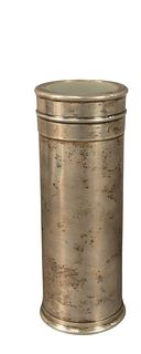 Sterling Silver Kaleidoscope, marked '925 Italy' to the rim, height 7 1/2 inches, diameter 2 1/2 inches, (weighted).