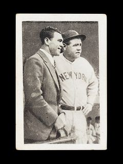 A 1932 Bulgaria Sport Photo Max Schmeling and Babe Ruth Card No. 256.
