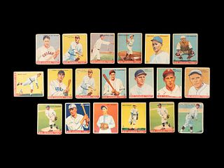 A Group of 19 1933 Goudey Baseball Cards,