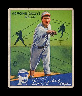 A 1934 Goudey Jerome Dizzy Dean No. 6 Baseball Card,