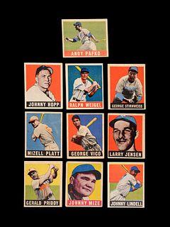 A Group of 10 1948 Leaf Baseball Cards,