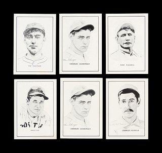 A Group of Six 1950 Callahan Baseball Cards,