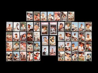 A Group of 53 1953 Bowman Color Baseball Cards Including Hall of Famers and Rookies,