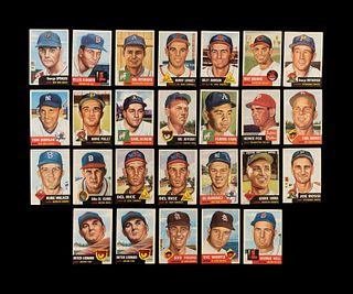 A Group of 26 1953 Topps Baseball Cards,