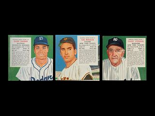 A Group of Three 1955 Red Man Baseball Cards,