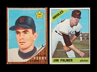 A Group of Gaylord Perry and Jim Palmer Topps Rookie Baseball Cards,