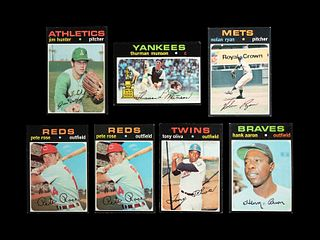 A Group of Seven 1971 Topps Baseball Cards including Hall of Famers and Stars,