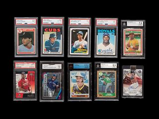A Group of 41 Modern Hall of Fame, Star and Rookie Baseball Cards,