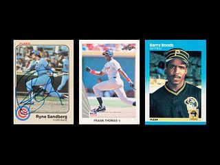 A Group of Barry Bonds, Frank Thomas and Ryne Sandberg Rookie Cards,