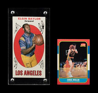 A Group of Hall of Fame Basketball Cards,
