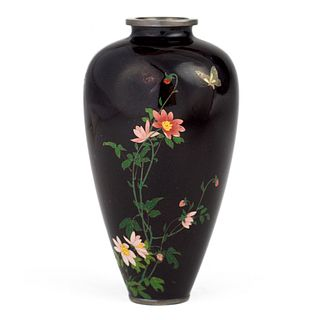 Namikawa Yasuyuki Japanese Small Cloisonne Vase