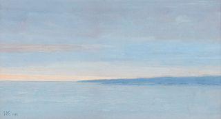 "Eric Austen Erickson ""Blue Cloud"" Gouache"