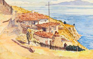Arthur H. Middleton Seaside Watercolor