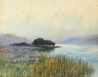 """Percy French """"Glenveagh"""" Watercolor"""