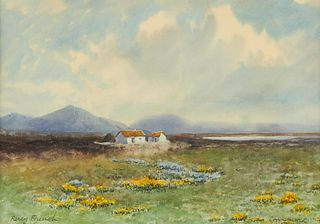 "Percy French ""Connemara"" Watercolor"