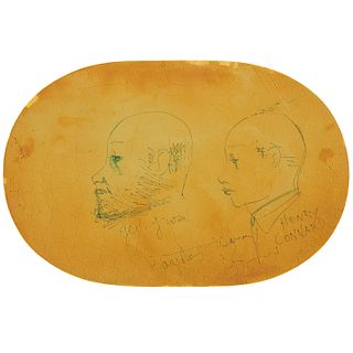 William Baziotes Drawing on Leather Mat