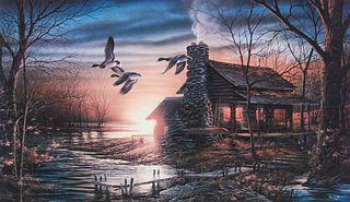 "Terry Redlin ""Golden Retreat"" Limited Edition Print"
