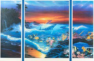 "Christian Riese Lassen ""Sea Vision"" Serigraph"