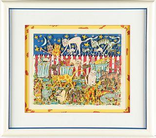 "James Rizzi ""Junkyard Cats"" 3D Serigraph"