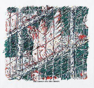 """Doug Argue """"The Chosen One the Chosen"""" Color Lithograph"""