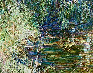 "Dan Ziembo ""Steelbrook I"" Painting on Canvas"