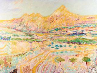 "Tarmo Watia ""Montana Yellow"" Oil on Canvas"