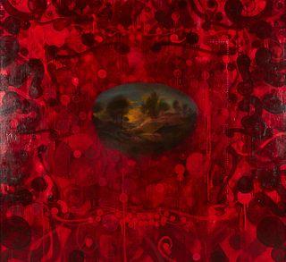 "Rosalyn Schwartz ""V Series 3"" Oil on Canvas 1995"