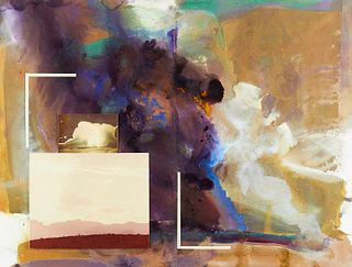 """Charles Shorre """"Pages from Books Unpublished"""" Mixed Media"""