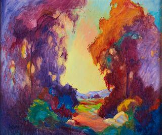 James Dudley Slay Eucalyptus Trees Oil on Canvas