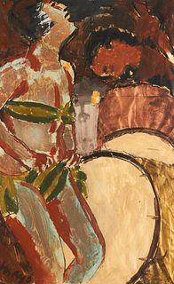 "Williamson Mayo ""Night Life"" Acrylic on Paper"