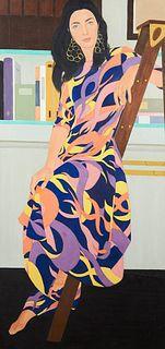 """April Z. Newhouse """"Portrait"""" Oil on Canvas"""