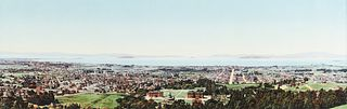 """William Henry Jackson """"The Golden Gate from Berkeley Heights"""" Photochrome"""