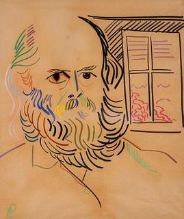 Jean Nugelsco Portrait of a Man Pastel