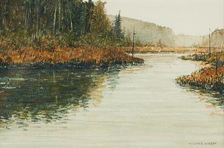 "William Murray ""Hunting Shack River"" Watercolor"