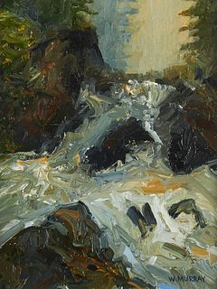 """William Murray """"Spring Thaw"""" Oil Painting"""