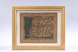 Korean Woodblock Print of a Map