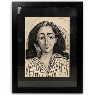 "Pablo Picasso (Spanish, 1881-1973) ""Jacqueline"" Lithograph"