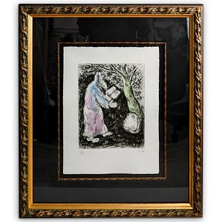 Marc Chagall (Russian 1887-1985) Etching In Color