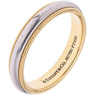 RING IN PLATINUM AND 18K YELLOW GOLD, TIFFANY & CO., TIFFANY CLASSIC COLLECTION Weight: 7.4 g. Size: 9