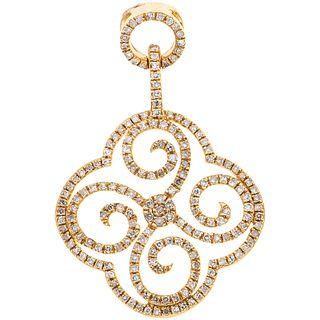 PENDANT WITH DIAMONDS IN 14K YELLOW GOLD 190 8x8 cut diamonds ~0.50 ct. Weight: 2.5 g