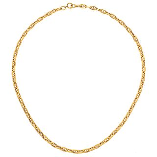 "CHOKER IN 18K YELLOW GOLD Weight: 11.3 g. Length: 15.5"" (39.5 cm)"