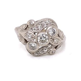 1920Õs 18k Art Nourveau Diamond Ring