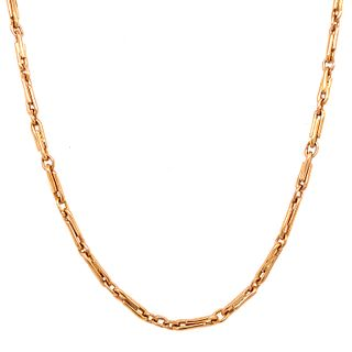 18k Long Chatelaine Necklace