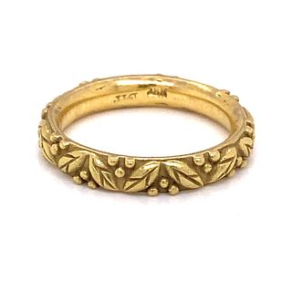 14k Vintage Holly Berry Ring
