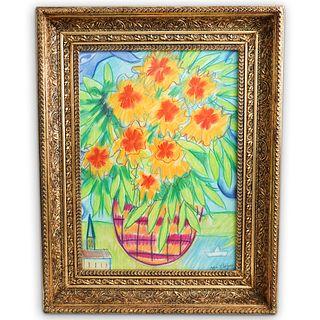 Marc Chagall (Russian 1887-1985) Attrib. Pastel On Paper