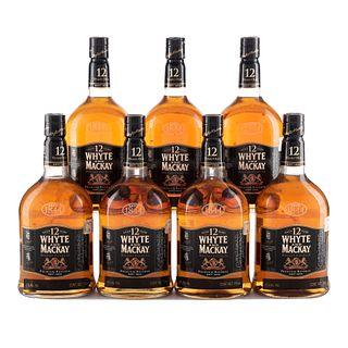 Whyte & Mackay. 12 años. Blended. Scotch whisky. Piezas: 7. En presentaciones de 750 ml.